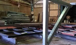中亞鐵工廠 遮雨棚 雨遮 鋼構工程