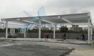 中亞鐵工廠 Tekla Structures 3D 遮雨棚 雨遮 鋼構工程