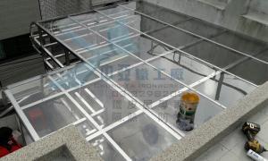 中亞鐵工廠 Tekla Structures 3D  採光罩 PC板 遮雨棚 雨遮 鋼構工程