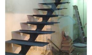 中亞鐵工廠 Tekla Structures 3D 龍骨梯